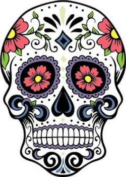 Sugar Skull clipart creepy