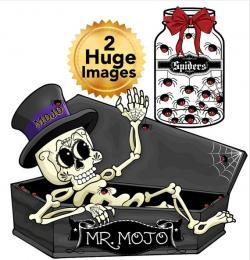 Coffin clipart creepy