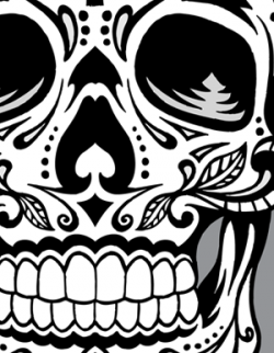 Sugar Skull clipart dark