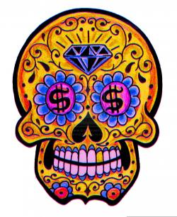 Sugar Skull clipart diamond