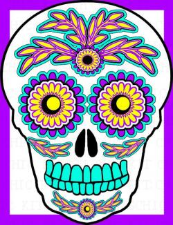 Sugar Skull clipart free sugar