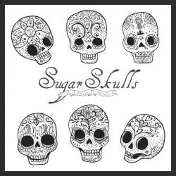 Sugar Skull clipart hand drawn