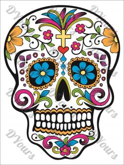 Sugar Skull clipart mexican style