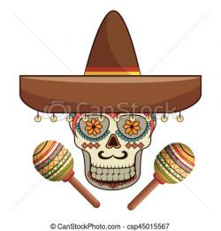 Sugar Skull clipart ornamental