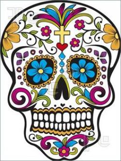 Sugar Skull clipart plain