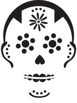 Sugar Skull clipart pumpkin carving template