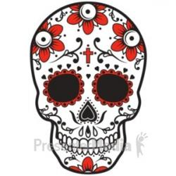 Sugar Skull clipart unique