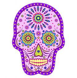Sugar Skull clipart violet