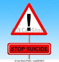 Suicide clipart caution sign