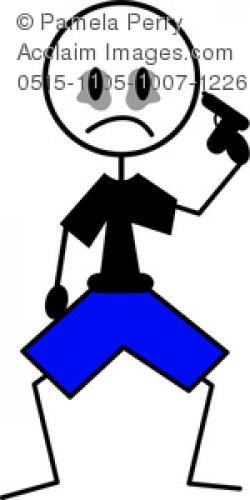 Suicide clipart stick figure