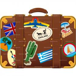 Travel clipart holiday suitcase