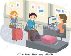 Airport clipart baggage check