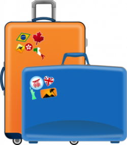 Airport clipart suitcase