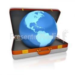 Globe clipart suitcase