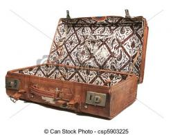 Suitcase clipart old leather