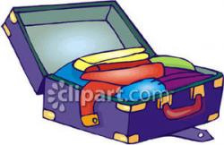 Suitcase clipart opened