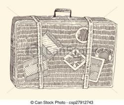 Suitcase clipart sketch