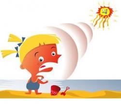 Burn clipart kid sunscreen