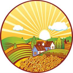 Sunbeam clipart farmland