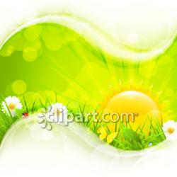 Sunbeam clipart nature background