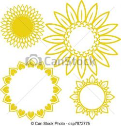 Circle clipart sunflower