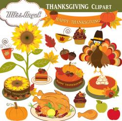 Thanksgiving clipart sunflower