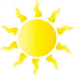Heat clipart bright sun