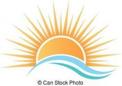 Horizon clipart rising sun