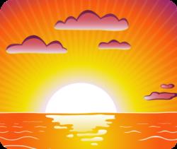 Dusk clipart setting sun