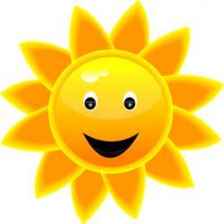 Smiley clipart sunshine