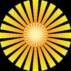Inspiring clipart ray sunshine