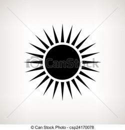 Drawn sunlight white background