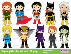 Super Girl clipart batwoman