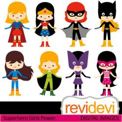 Super Girl clipart costume party