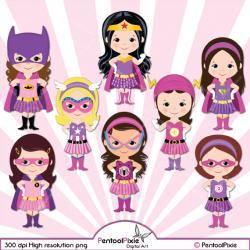Pink clipart batgirl
