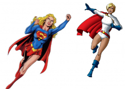 Supergirl clipart flying