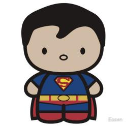 Superman clipart chibi