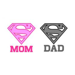Mommy clipart super dad