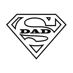 Superman clipart dad