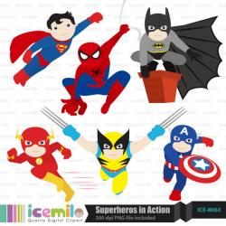 Superman clipart digital