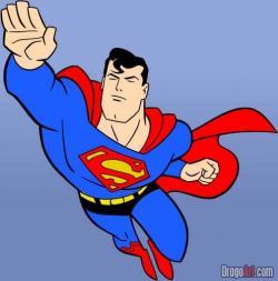Superman clipart drawn