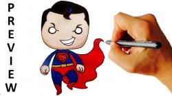 Superman clipart easy