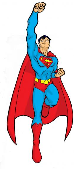 Superman clipart flying