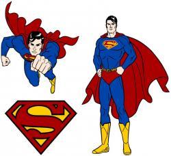 Superman clipart hero