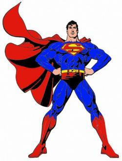Superman clipart muscular