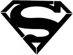 Superman clipart silhouette