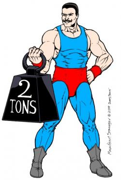 Superman clipart strong