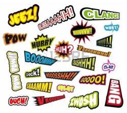 Comics clipart hero word