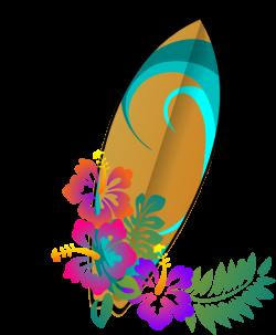 Surfing clipart hawaiian