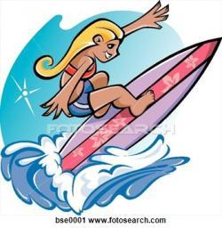 Surfer clipart california